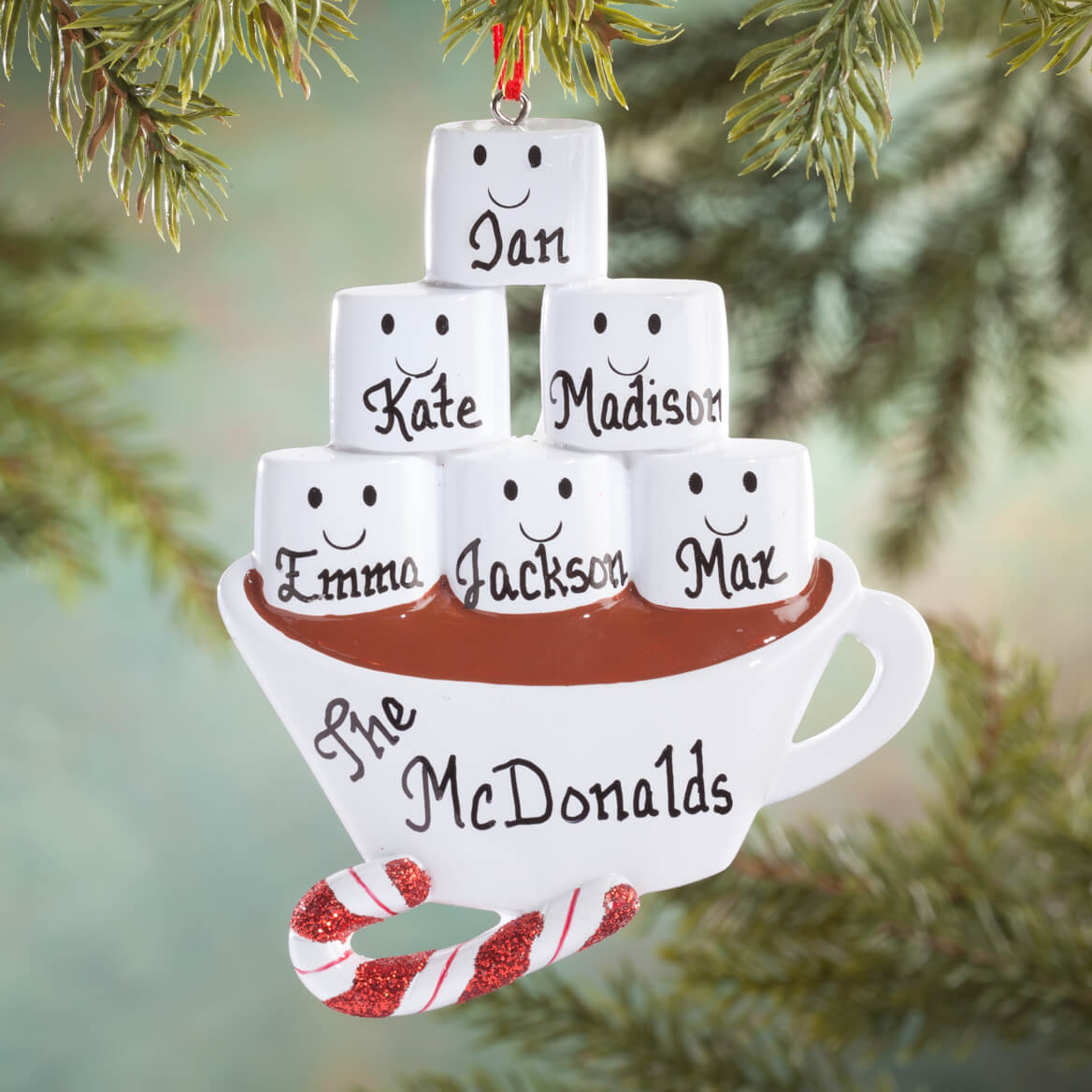 Personalized Hot Chocolate Family Ornament - Miles Kimball