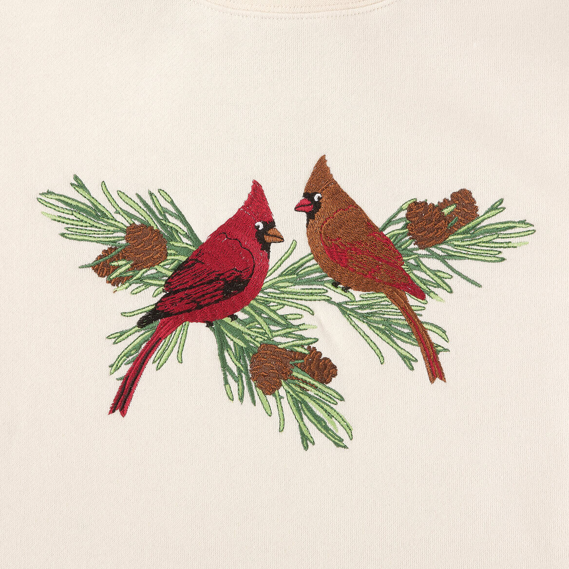 Cardinals on Pine Branch Sweatshirt by Sawyer Creek-360717