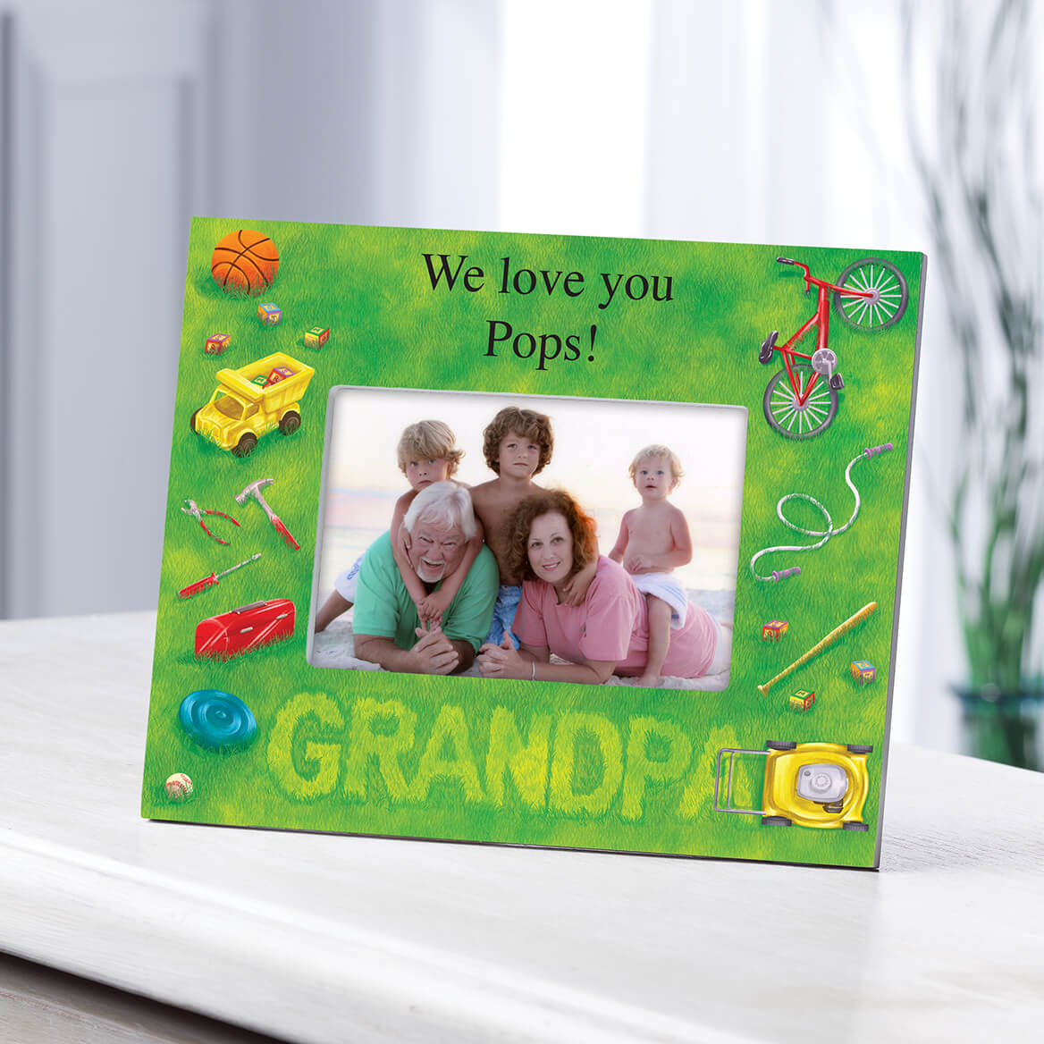 Personalized Lawn Words Grandpa Frame-361189