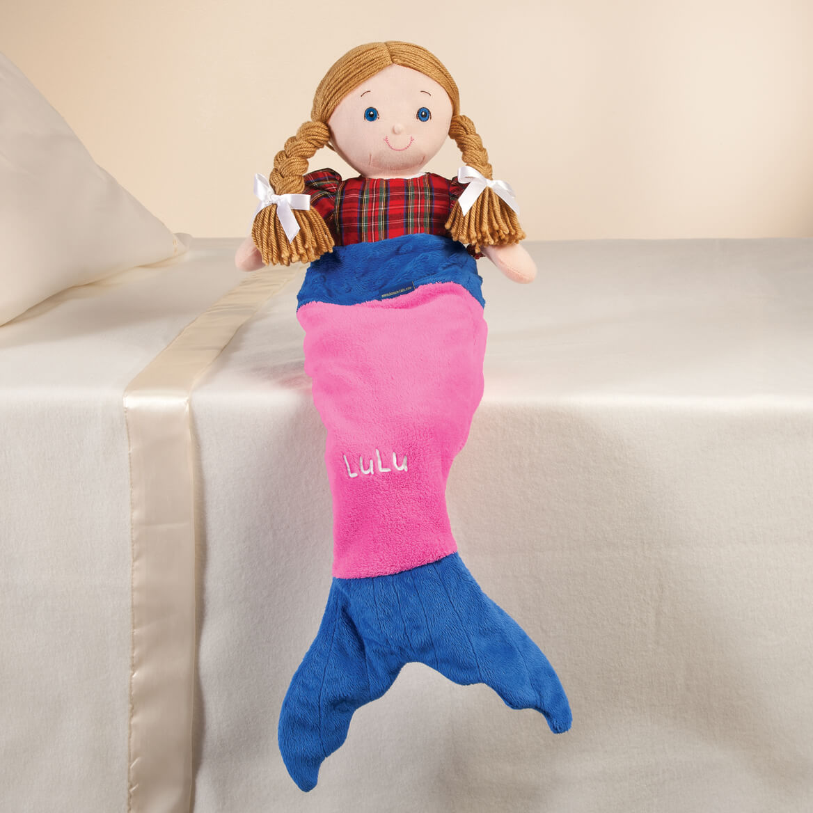 """Personalized Blankie Tails™ 18"""" Doll Pink Mermaid Tail-361300"""