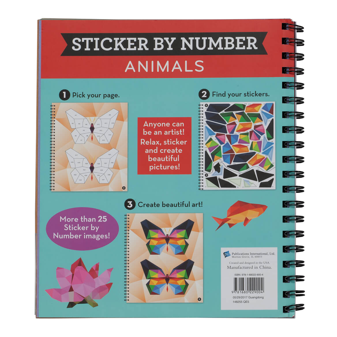 Brain Games Sticker By Number Animals - Sticker Book - Miles Kimball