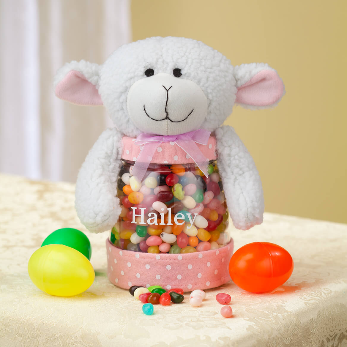 Personalized Easter Lamb Treat Jar-361813