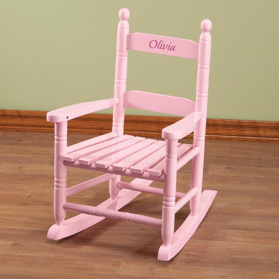 Personalized Pink Children's Rocker-361818