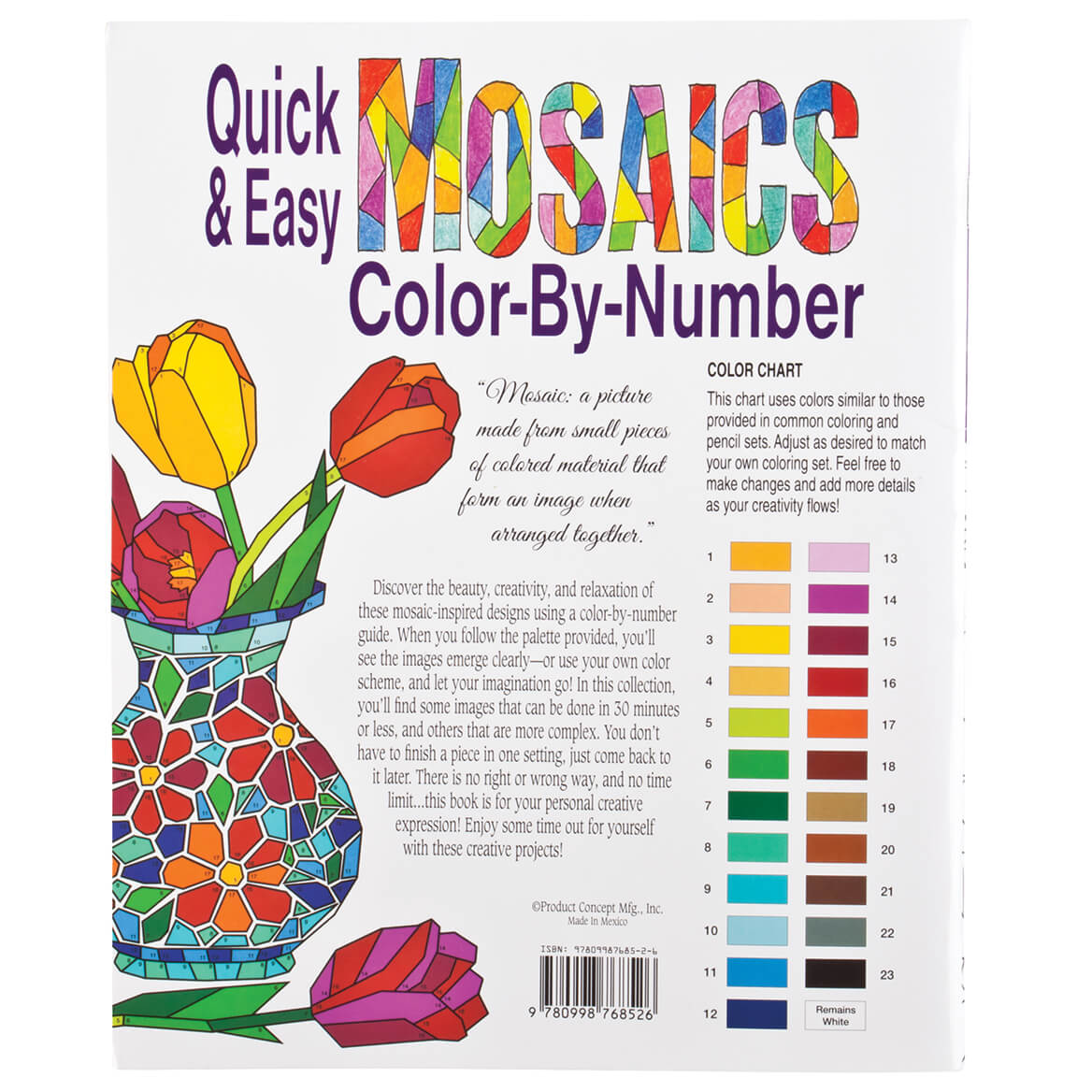 Quick and Easy Mosaic Coloring Book - Color By Number - Miles Kimball