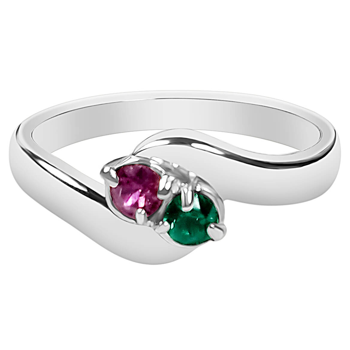 Birthstone Crystals Bypass Ring-362468