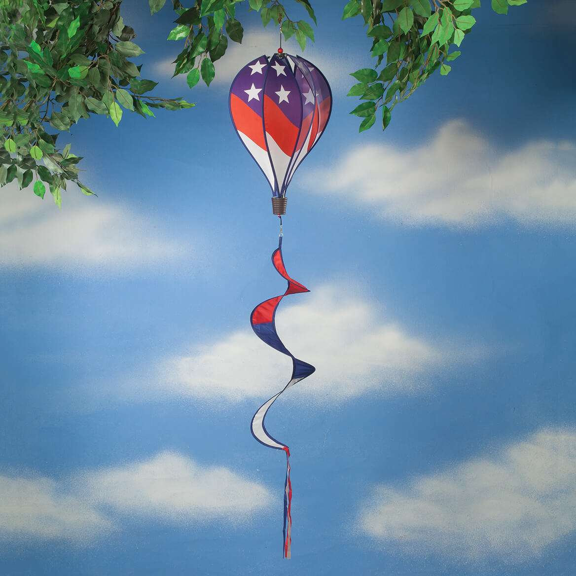 Patriotic Hot Air Balloon Wind Spinner-362533