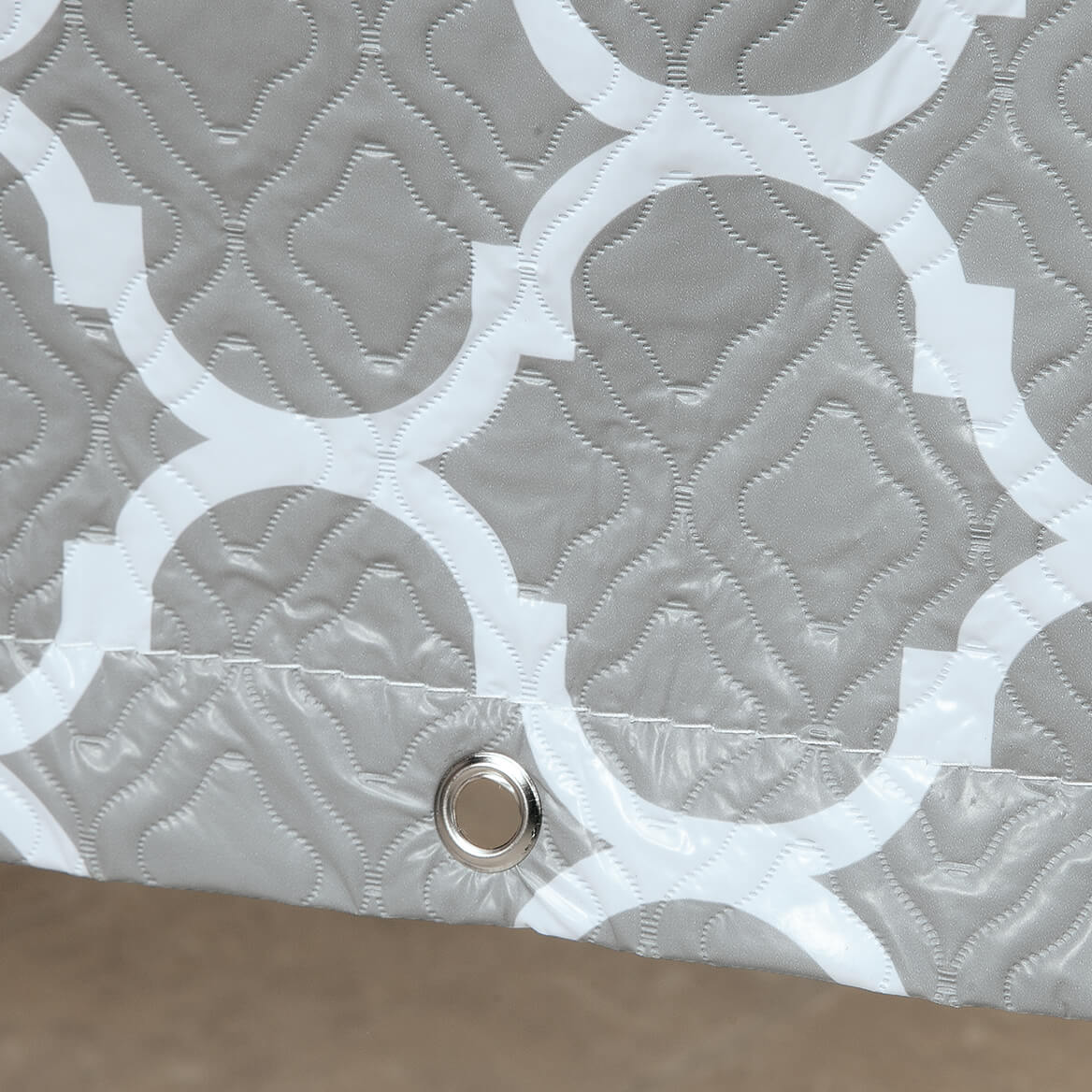"""Trellis Pattern Quilted Table Cover Oval, 108""""L x 30""""H x 84""""-362887"""
