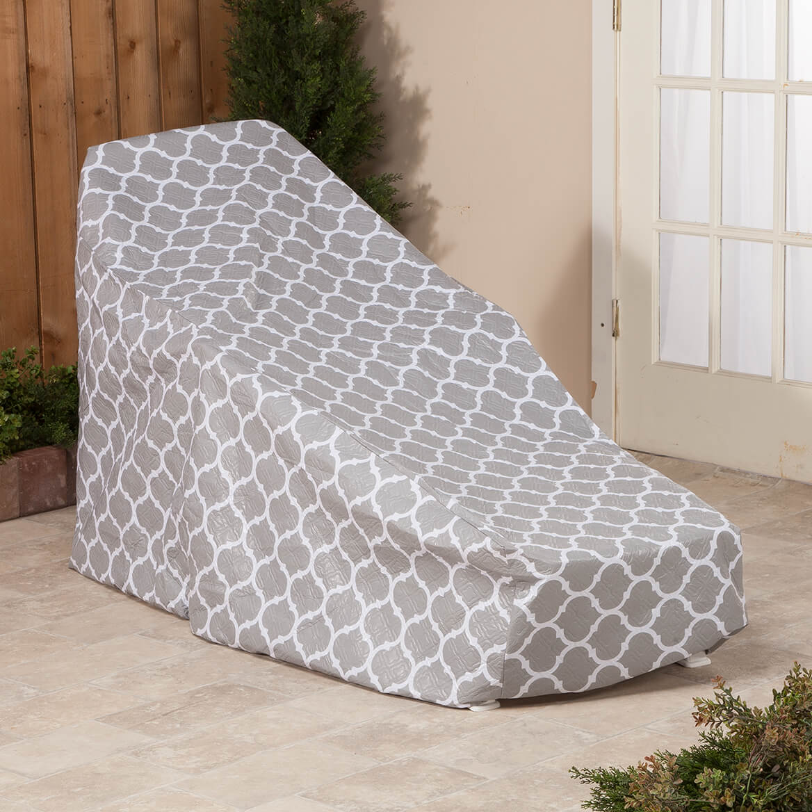 """Trellis Pattern Quilted Chaise Cover, 76"""" L x 33"""" H x 27"""" W-362892"""