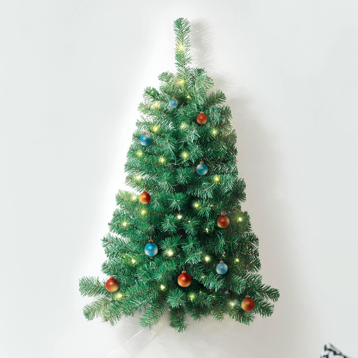 3' Lighted Wall Christmas Tree - Wall Tree - Miles Kimball