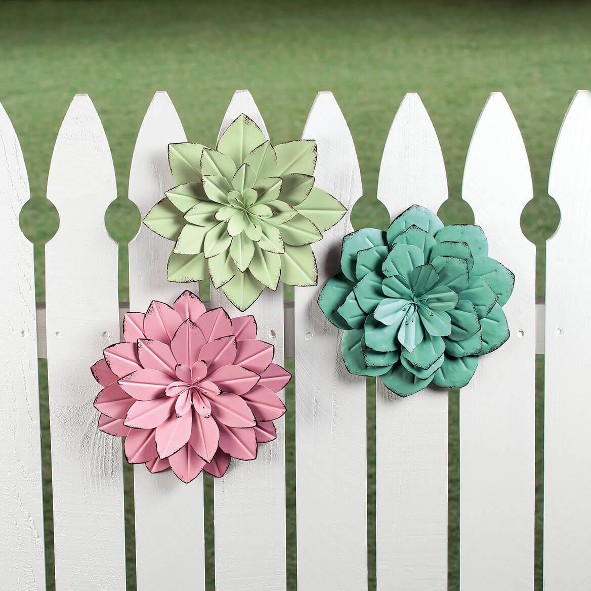 Metal Flower Wall Hangings Set/3 by Fox River Creations™-362912