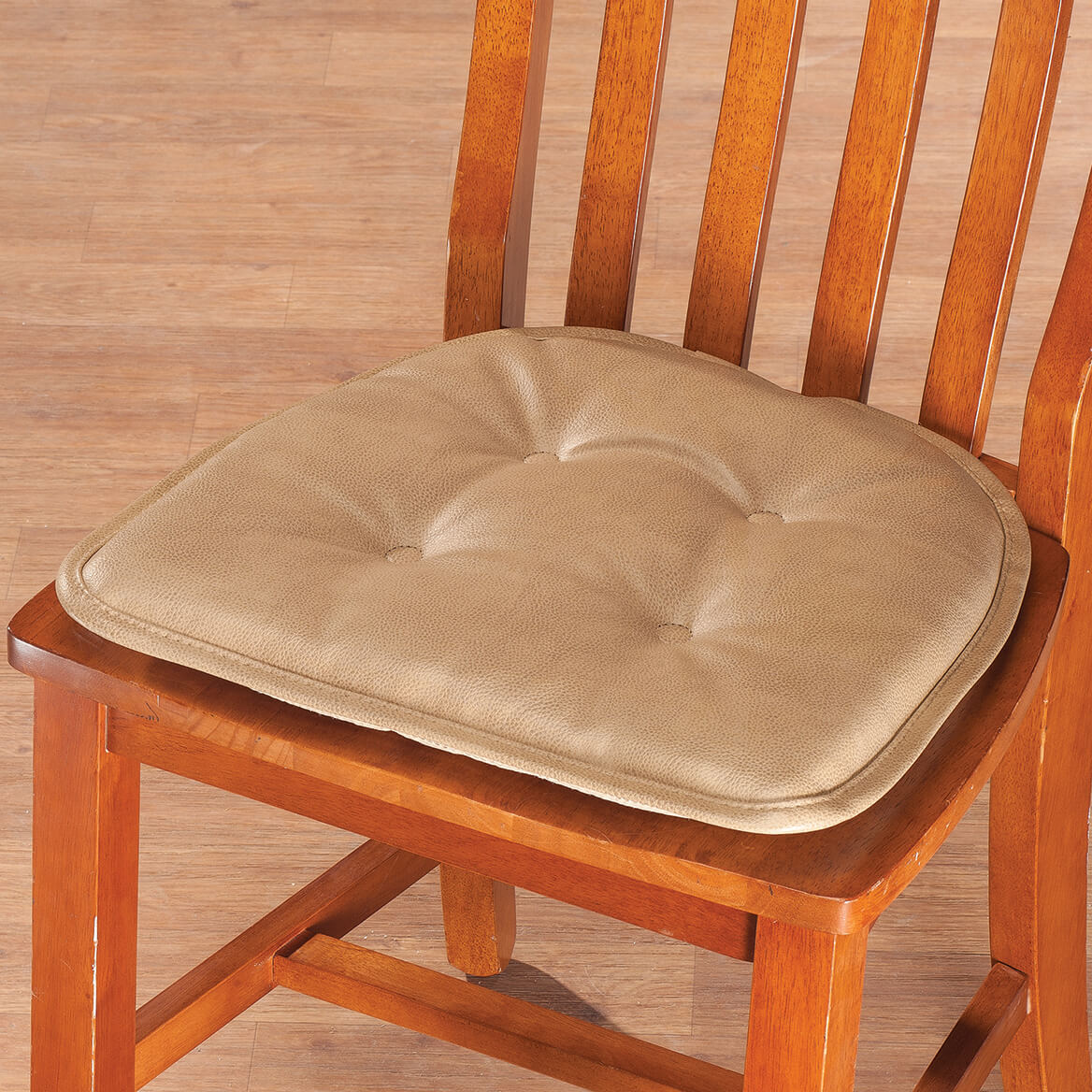 St Germaine Faux Leather Chair Pad W Gripper Chair Pad