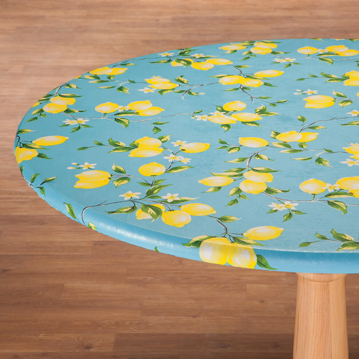 Miles Kimball & Flowing Flowers Vinyl Elasticized Table Cover - Miles Kimball