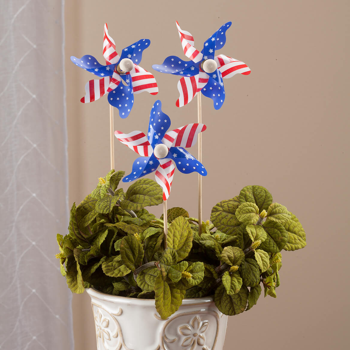 Mini Patriotic Pinwheels, Set of 12-363091