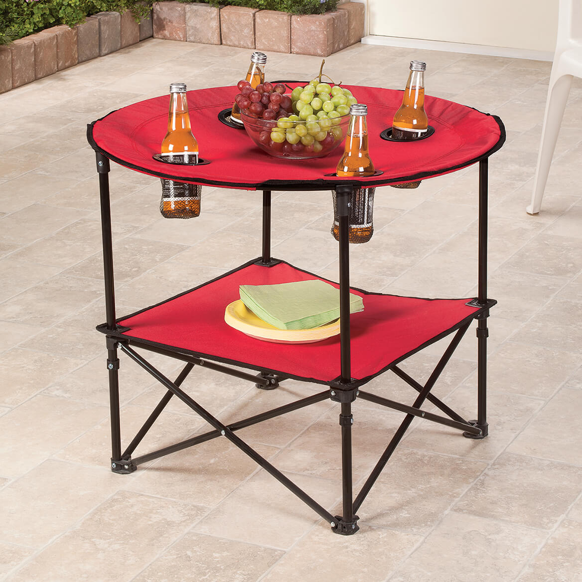 Red Folding Picnic Table-363306