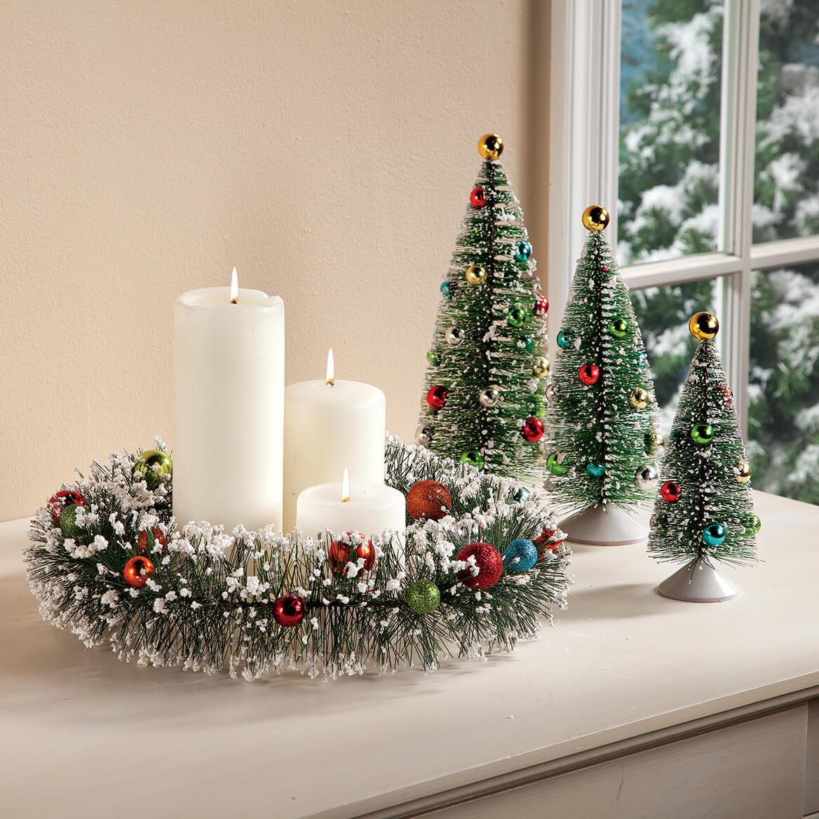 Vintage Bottle Brush Wreath by Holiday Peak™-363522