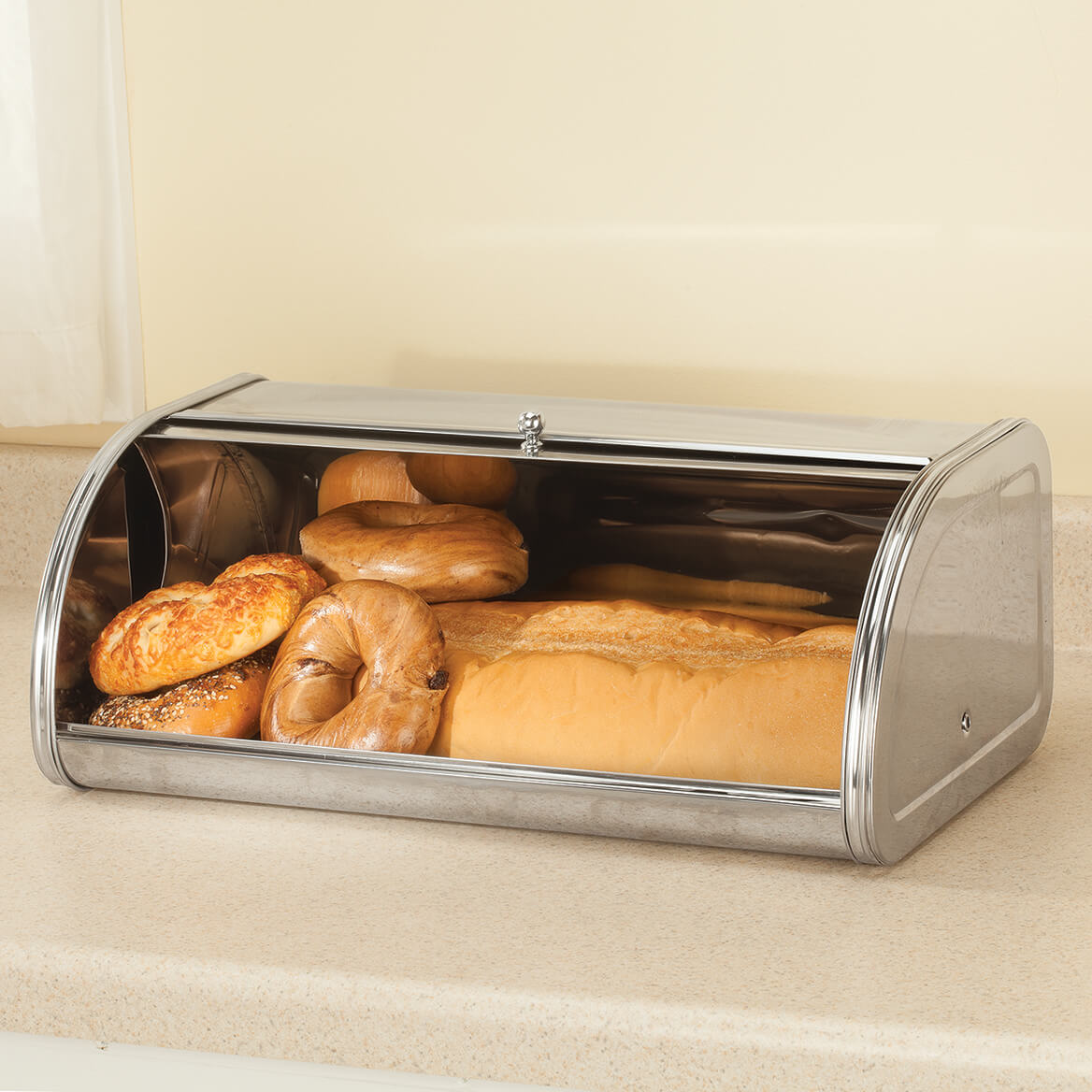 ... Oversized Stainless Steel Bread Box By Home Marketplace 363794