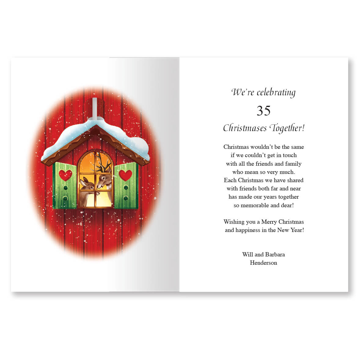 Personalized Our Years Together Christmas Card Set of 20-363921
