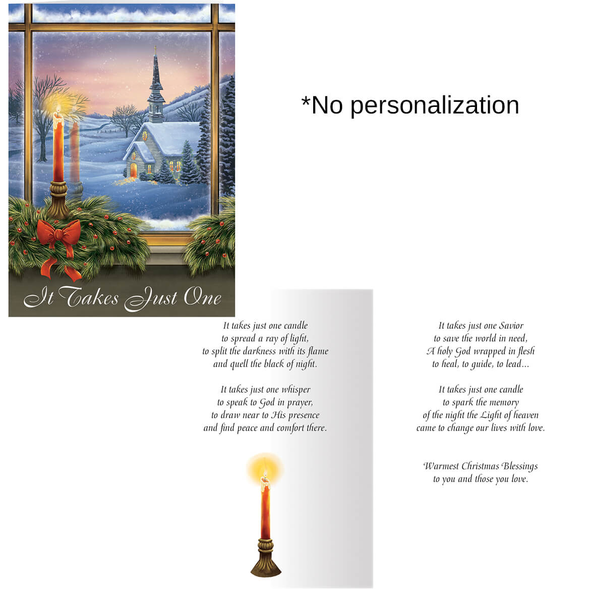 It Takes Just One Christmas Card Set of 20-363926