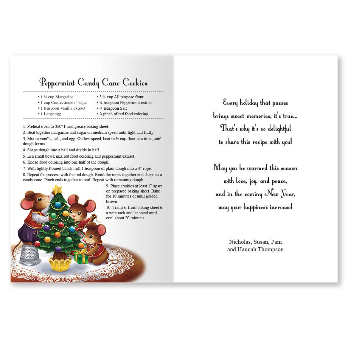 Scented Recipe Gift - Personalized Christmas Cards - Miles Kimball