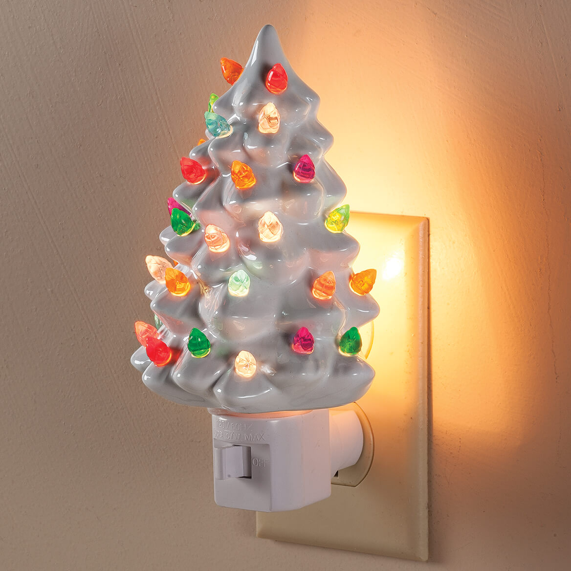 White Ceramic Christmas Tree.White Ceramic Tree Night Light