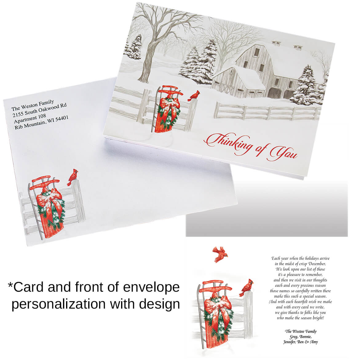 Thinking of You - Personalized Christmas Cards - Miles Kimball