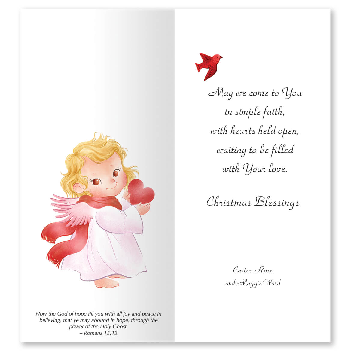 Praying Angels Christmas Card Set of 20-364010