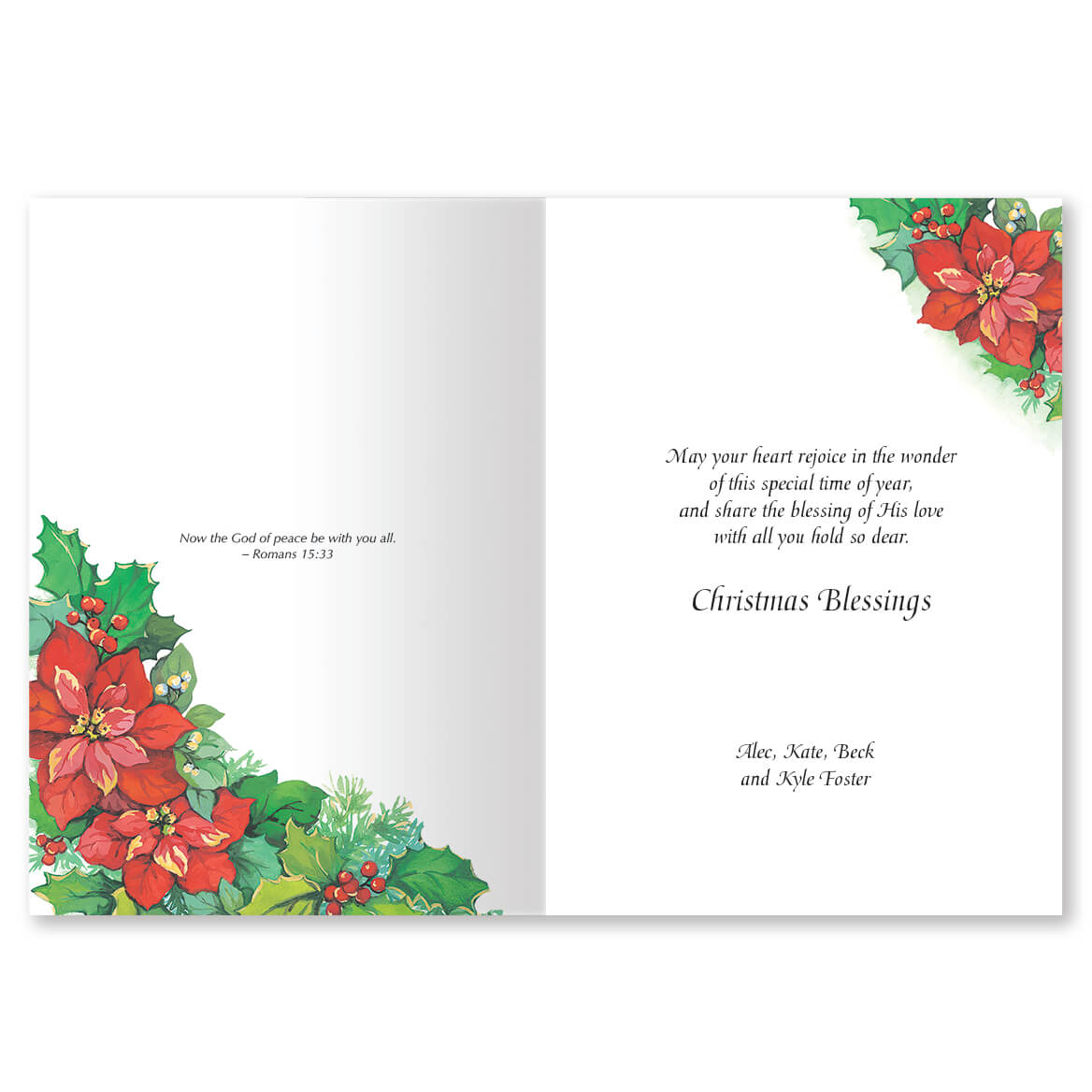 Personalized Gods Gifts Christmas Card Set Of 20 Miles Kimball