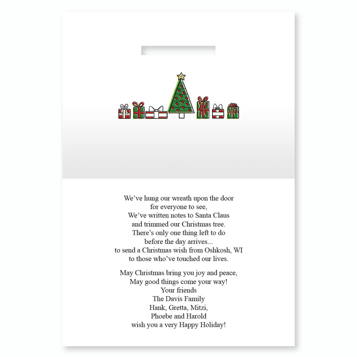Your Town Personalized Christmas Card Miles Kimball