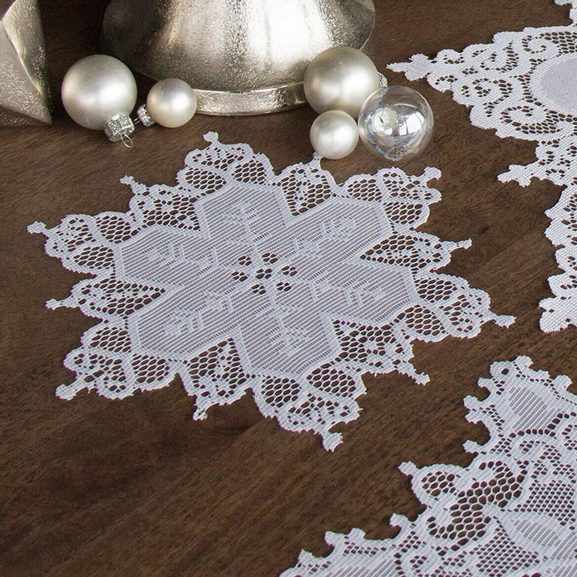 Snowflake Doily White Doilies Christmas Doilies Miles Kimball