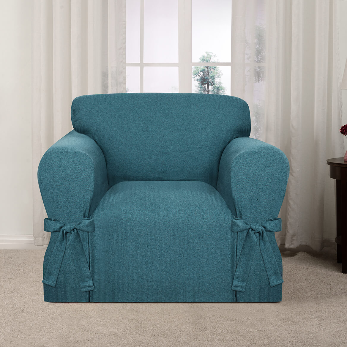 Kathy Ireland Evening Flannel Chair Slipcover-364170