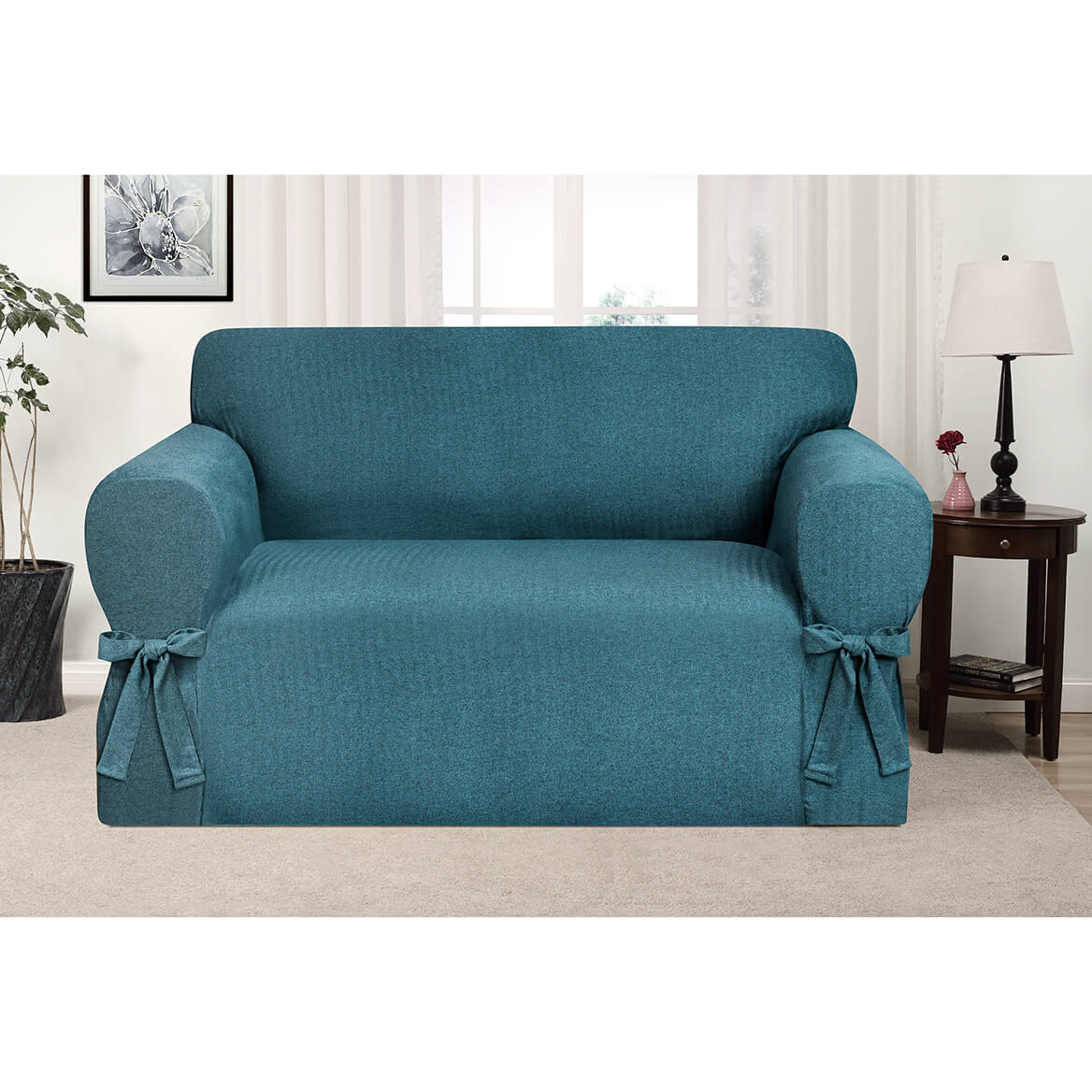 Kathy Ireland Evening Flannel Loveseat Slipcover-364171