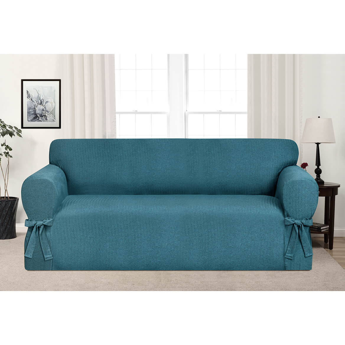 Kathy Ireland Evening Flannel Sofa Slipcover-364172