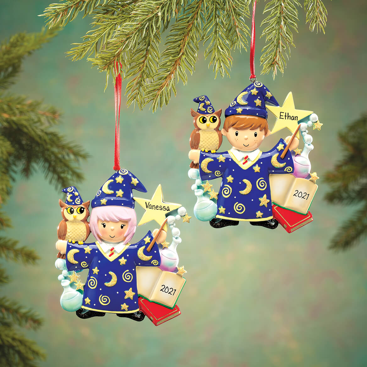 Personalized Wizard Ornament-364213