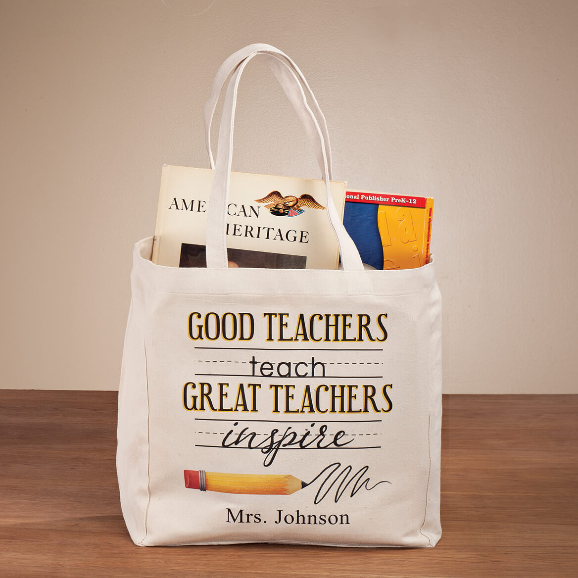 Personalized Teach & Inspire Tote-364385