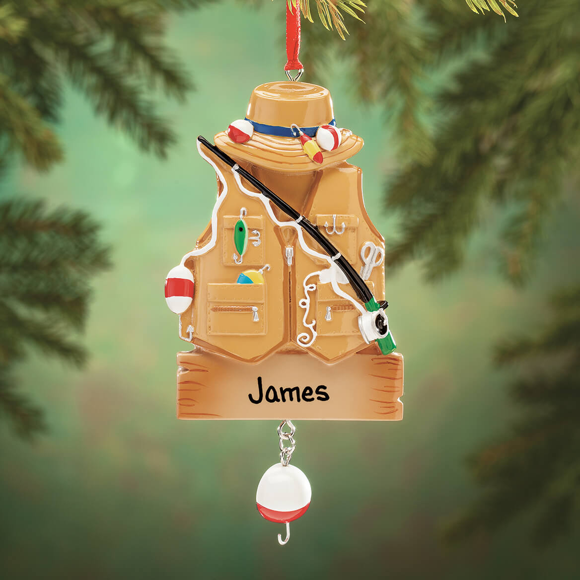 Personalized Fisher Ornament-364416