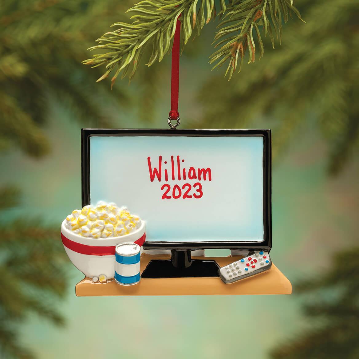 Personalized TV & Popcorn Ornament-364417