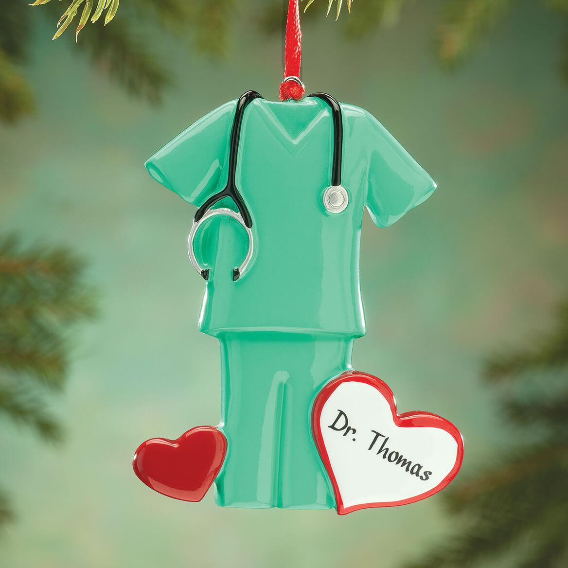 Personalized Green Scrubs Ornament-364421