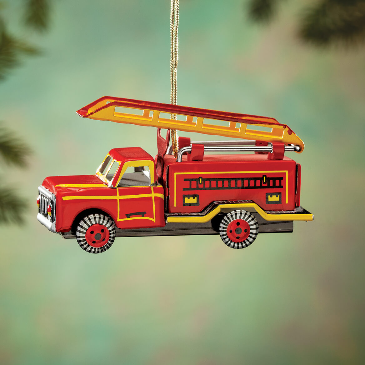 Tin Fire Engine Ornament-364486