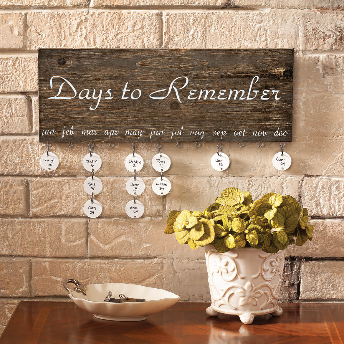 Personalized Dates to Remember Wall Hanging-364601