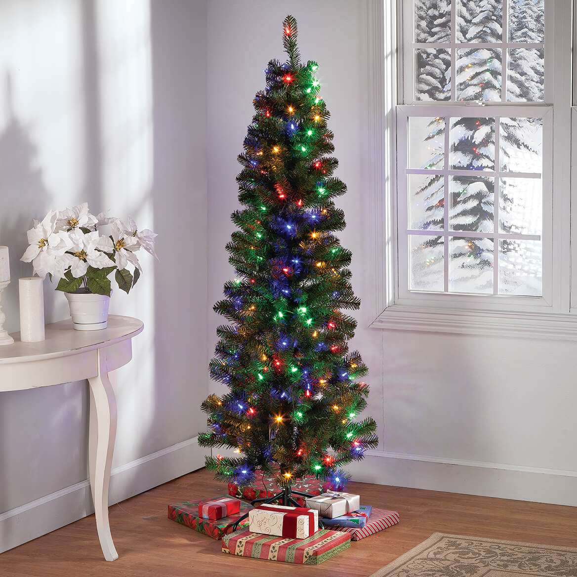 6' Color-Changing Pencil Tree Holiday Peak™-364661