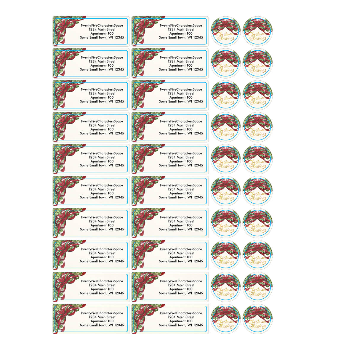 Christmas Address Labels & Envelope Seals - Miles Kimball