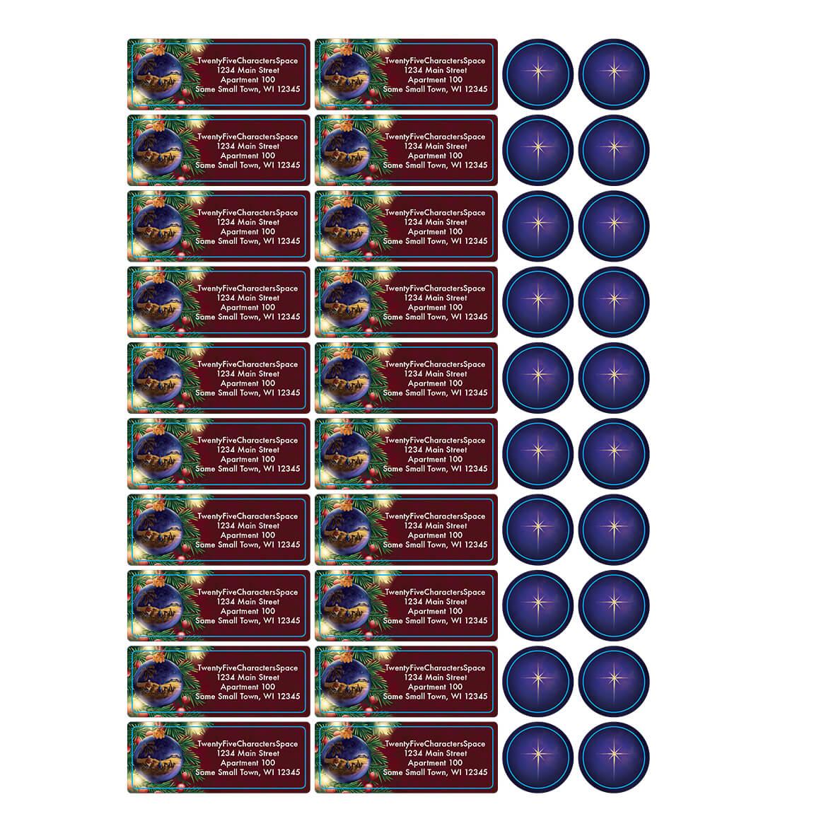 Personalized Nativity Ornament Address Labels & Seals 20-364742