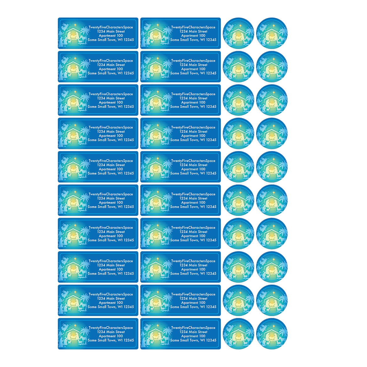 Personalized The Nativity Story Address Labels & Seals 20-364751