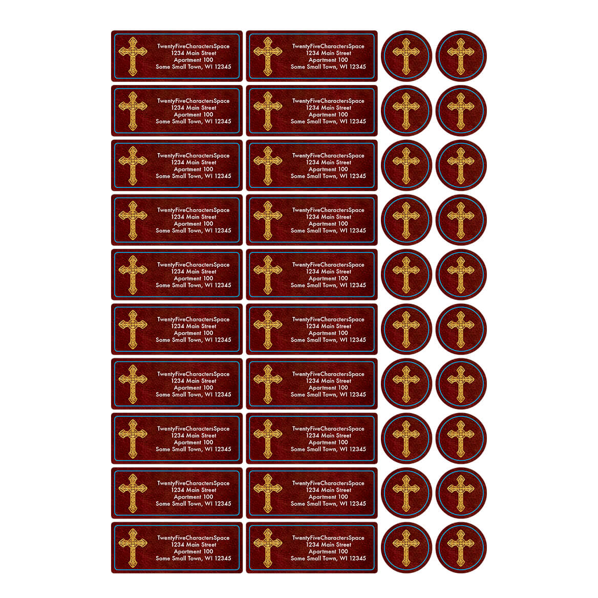 Personalized Prayer Gift Address Labels & Seals 20-364752