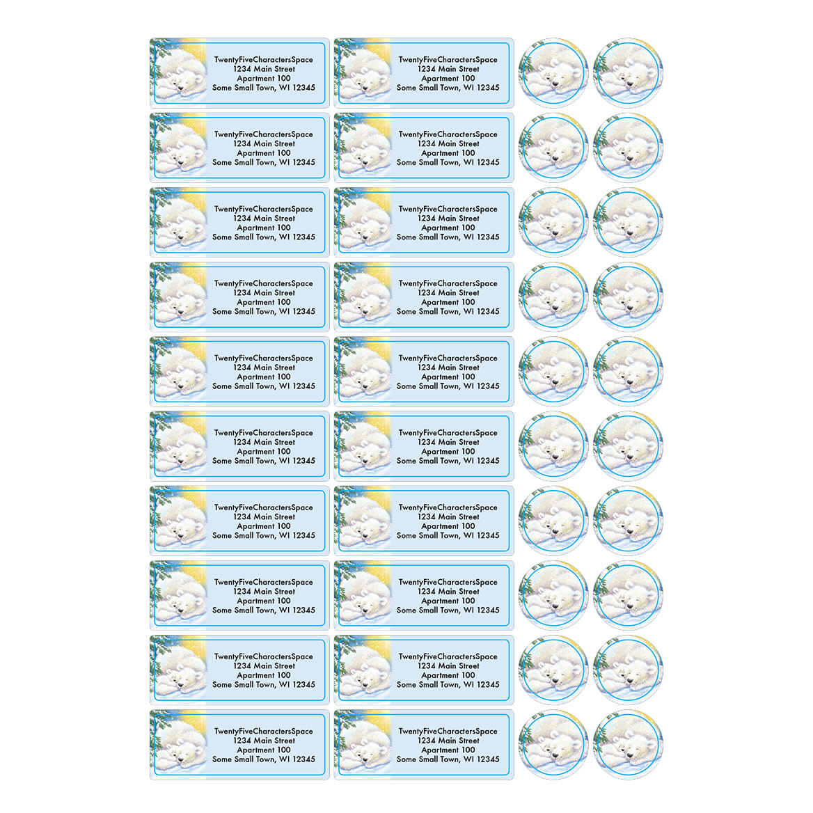 Personalized Light of Christ Address Labels & Seal 20-364762