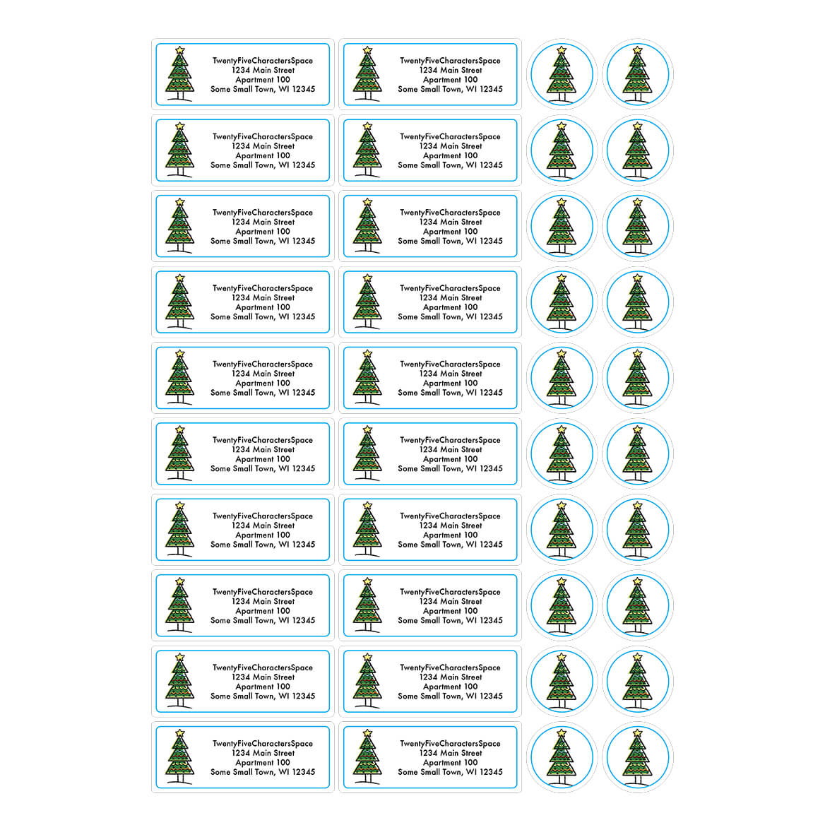 Personalized Your Town Christmas Address Labels & Seals 20-364774