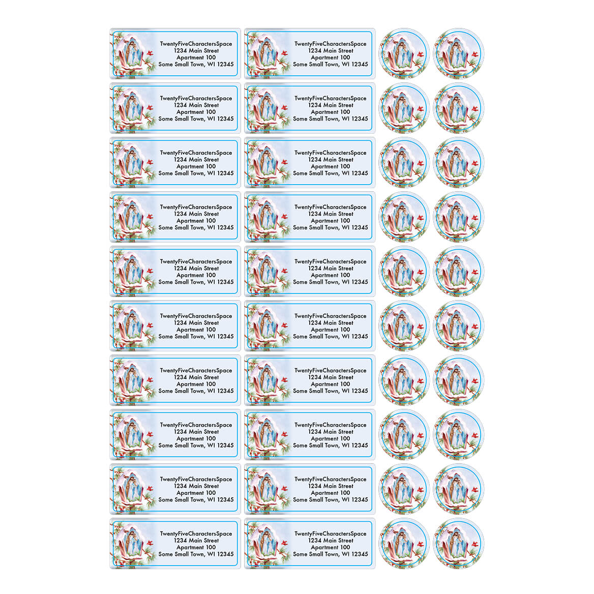 Personalized Praying Angels Address Labels & Seals 20-364781
