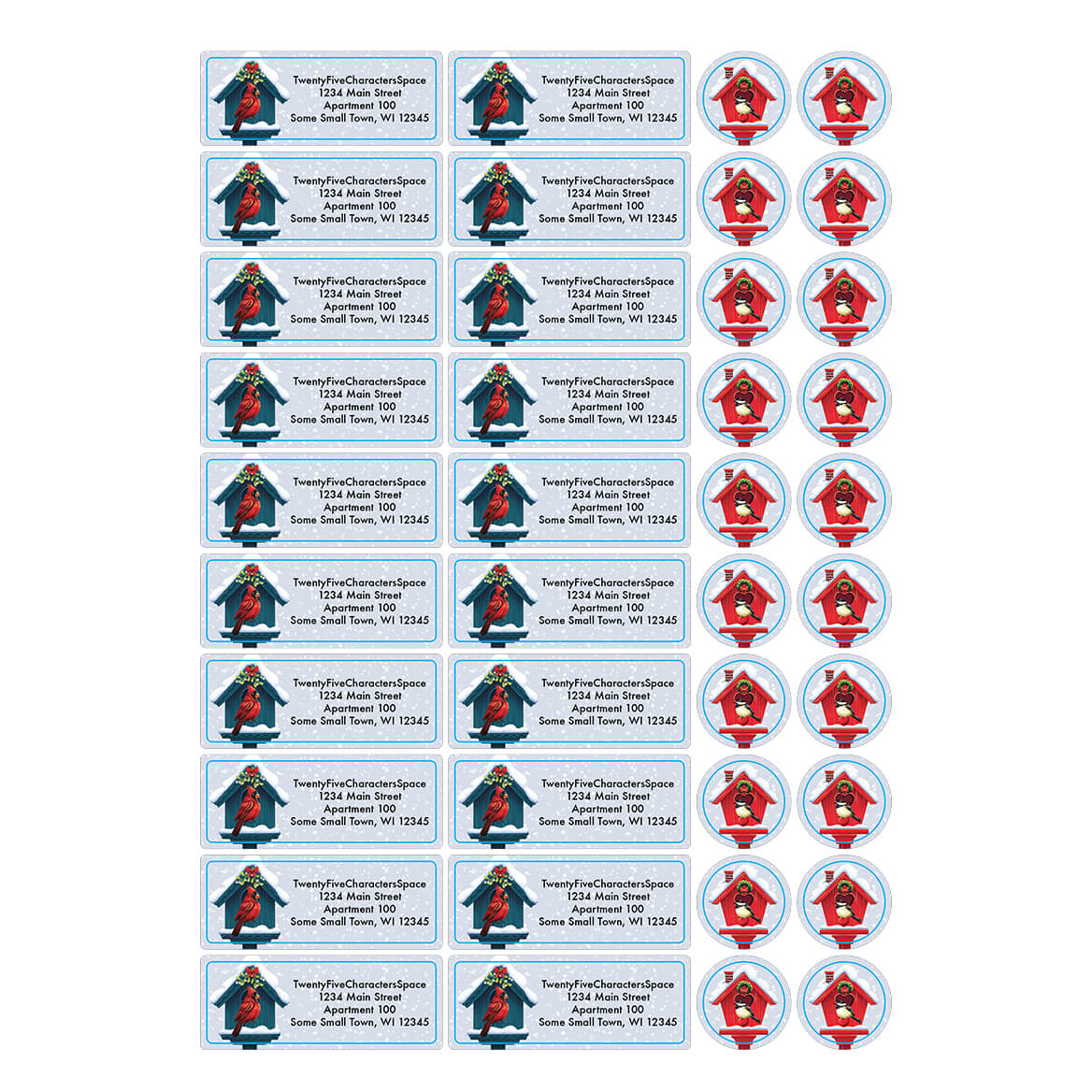 Personalized Festive Friends Address Labels & Seal 20-364782