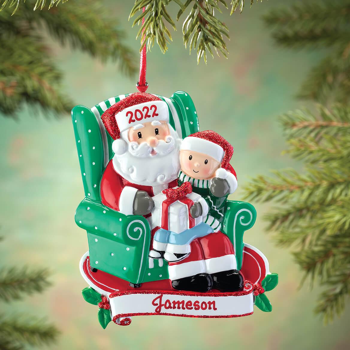 Personalized Santa and Child Ornament-364881