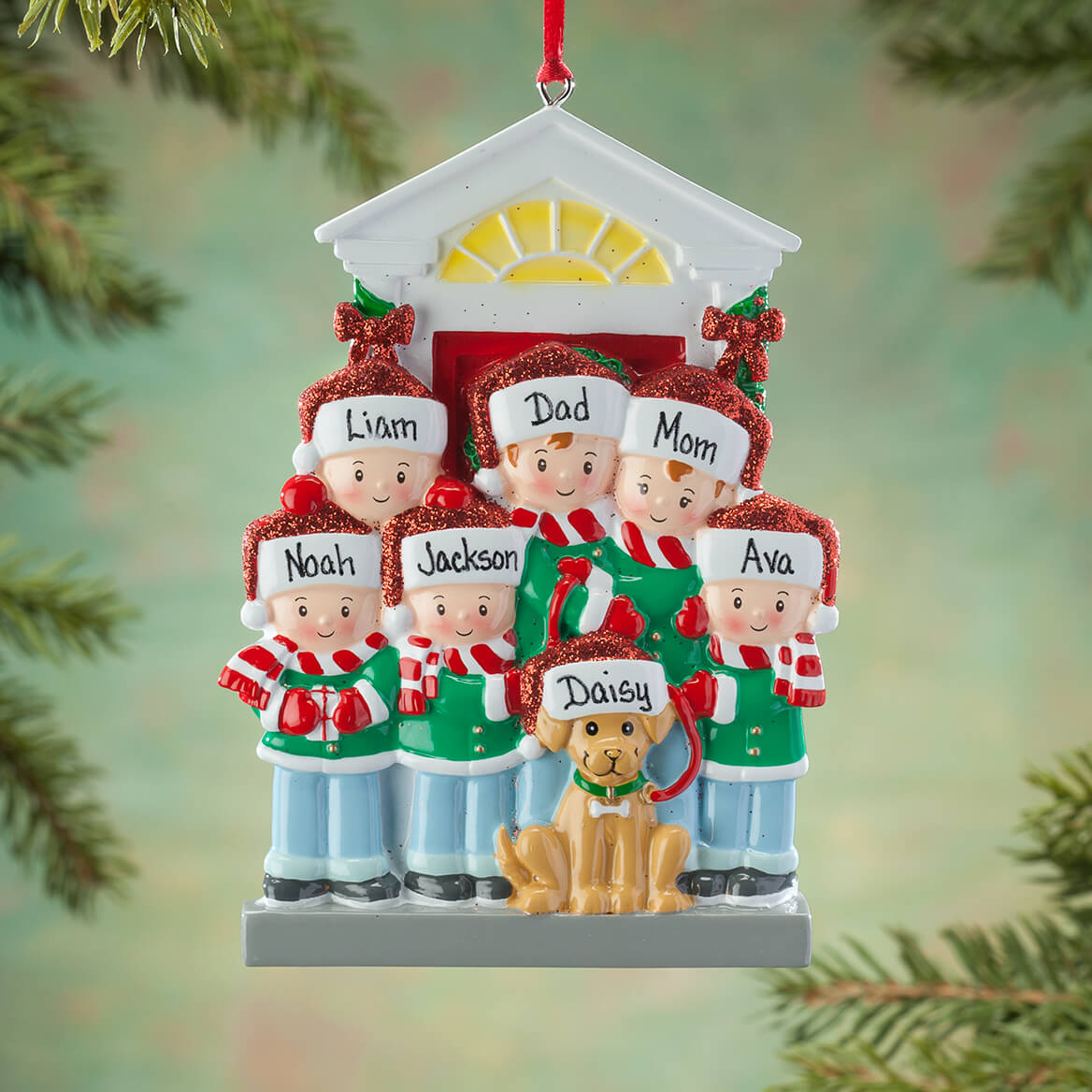 Personalized Family and Dog Ornament-364886